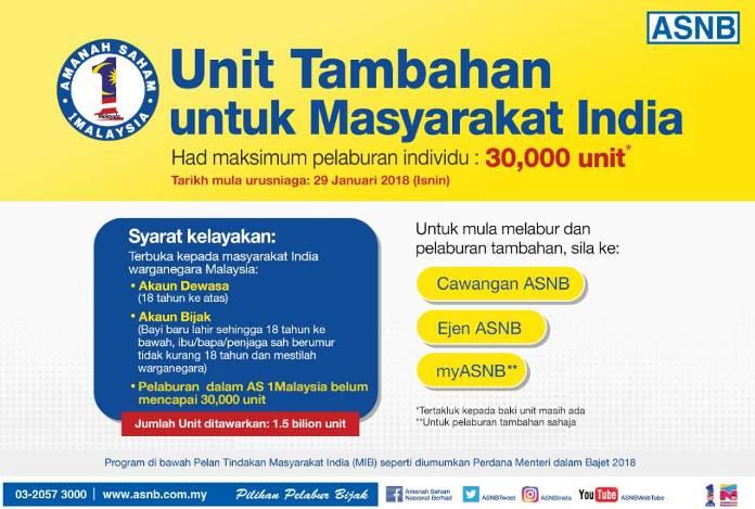 ASNB - amanah saham satu malaysia-